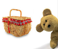 Teddy bear with picnic basket